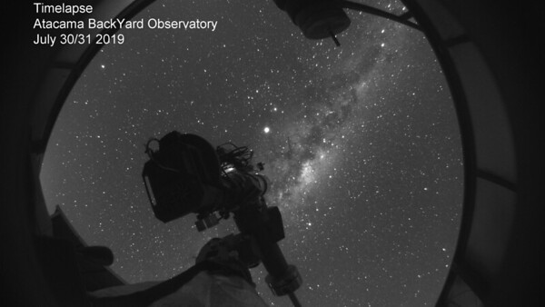 Atacama BackYard Observatory all night all-sky time-lapse