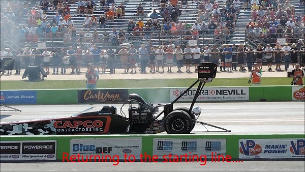 Top Fuel Dragster Burnout