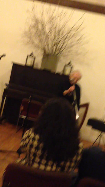 2014 Acoustic Weston concert; Richard Shapiro took this video with his iPhone, had to move it around a bit before settling in on the proper viewing angle.  Mom sang  Some Other Time, music by Comden and Green, lyrics by Bernstein