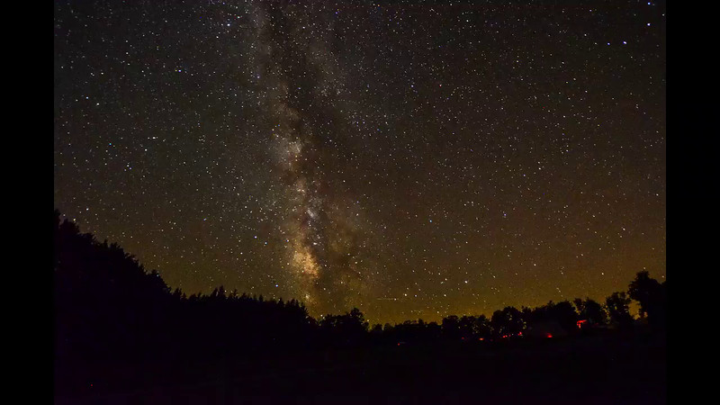 A Timelapse Movie of the Milky Way Galaxy Moving Across the Sky