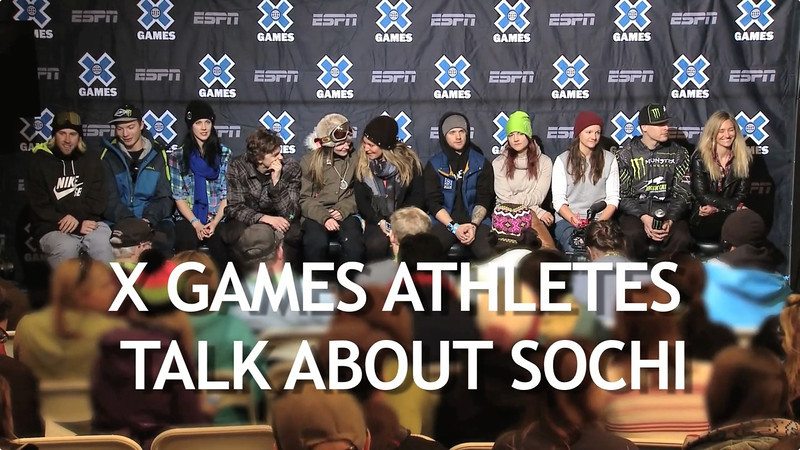 X Games Athletes talk about Sochi Olympics