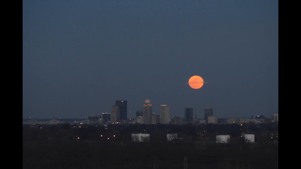 Jupiter and Moon Rise Over Louisville Time Lapse (no audio)