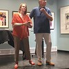 Sept 16, 2018 singing for the crowd at celebration of Pete and Peg Eggers 70th birthdays and 45th wedding anniversary - our 2nd song - lyrics written by LB for the occasion, sung to Strauss' Viennese Waltz