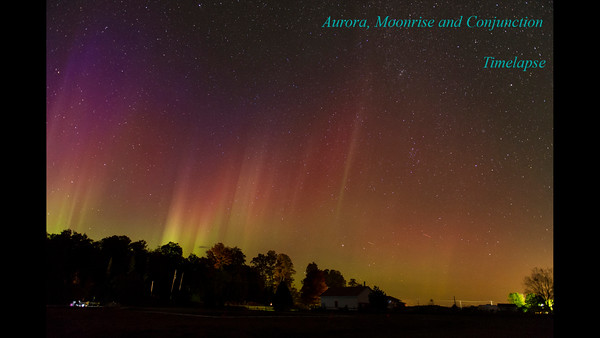 Aurora and Moonrise