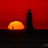 The Sun Rising Behind The Great Beds Lighthouse 9/6/20