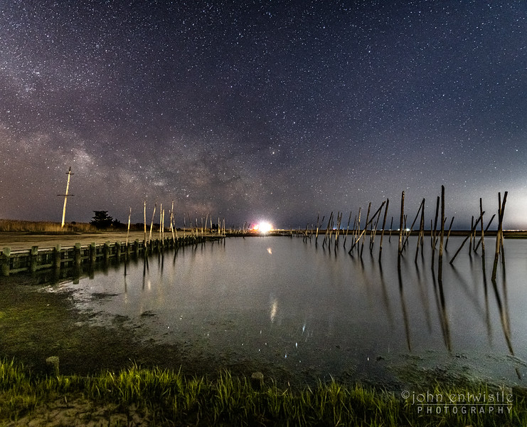 A Timelapse Video of the Milky Way Rising Over An Old Marina With The Tide Coming In, Jersey Shore 4/19/20