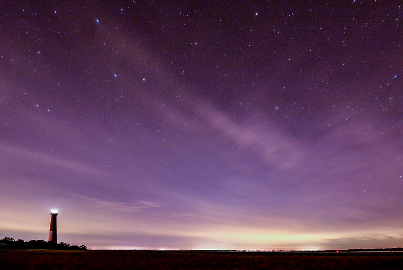 Night Sky Over Barnegat Lighthouse 3/24/17