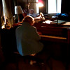 November 3, 2011 - the aftermath of  a tropical storm left everyone without power for a week or more.  Mom and Dad had to come temporarily live with us, as we had limited generator power.  Here Mom is noodling around on the piano in the living room; Sue had been making dinner for them  and came out to record this; Dad was sitting in the chair, just listening.  A little less than 6 weeks later, he was gone (12/14/11).