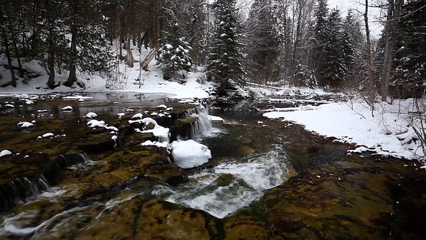 Winter Waters - Lower Au Train Falls (Au Train, MI)
