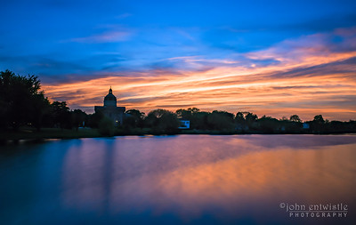 Timelaspe of Sunset Colors Over St. Catherine's in Spring Lake 5/20/18