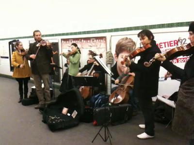 Musicians in the Paris Metro