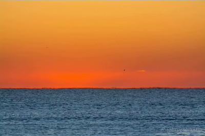 Sunrise on the Atlantic Ocean Horizon