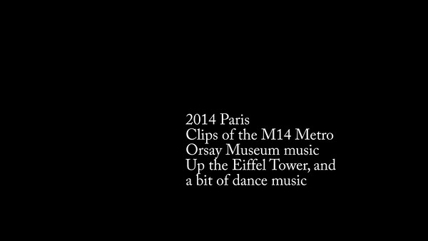 2014 Paris - Clips of the M14 Metro, Orsay music, going up the Eiffel Tower, and a bit of Paris dance
