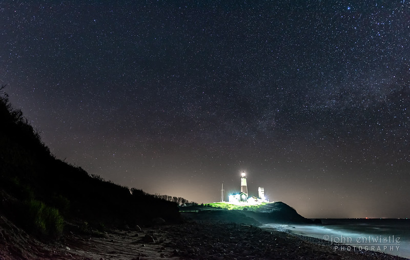 A Timelapse Video of Star Trails Over The Montauk Lighthouse, Montauk, NY 5/7/19
