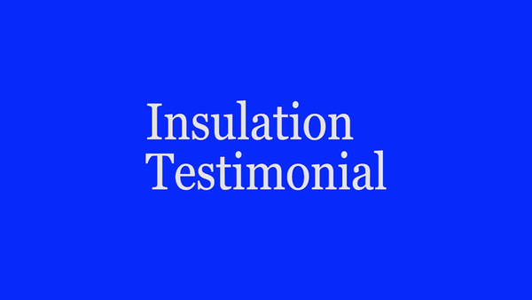 Customer Testimonial Insulation installed by the Aluminum Company of NC