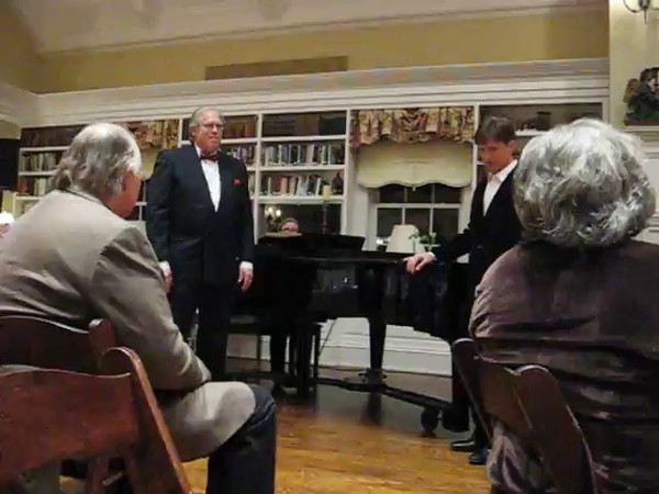 Charis fund raiser Feb 2014, David Eggers and Richard Weidlich singing Lily's Eyes from the musical, The Secret Garden