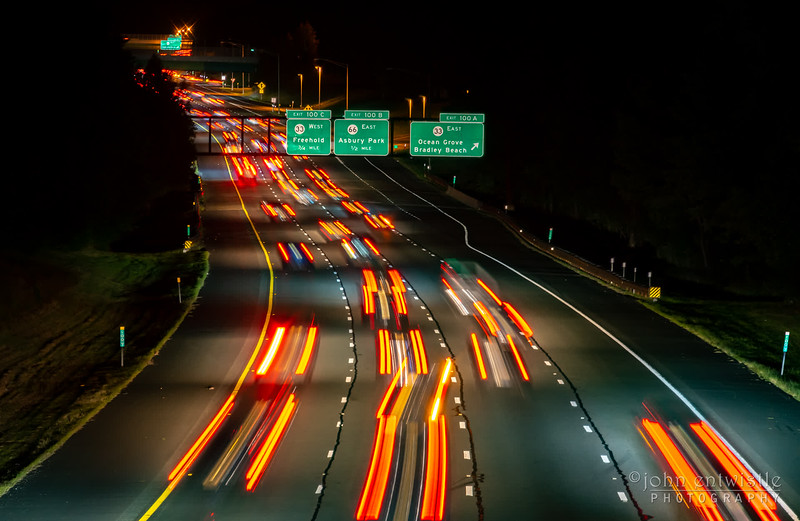 A Timelapse Video of Northbound Traffic on the Garden State Parkway 9/1/19
