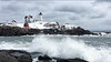 Angry seas at Nubble Light