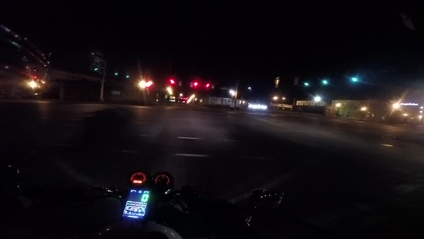 riding the circle after dark