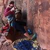 Pamila Shanti Pack BTS climbing photography.