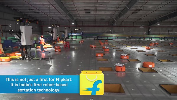 FlipKart Warehouse - The Bot sorting