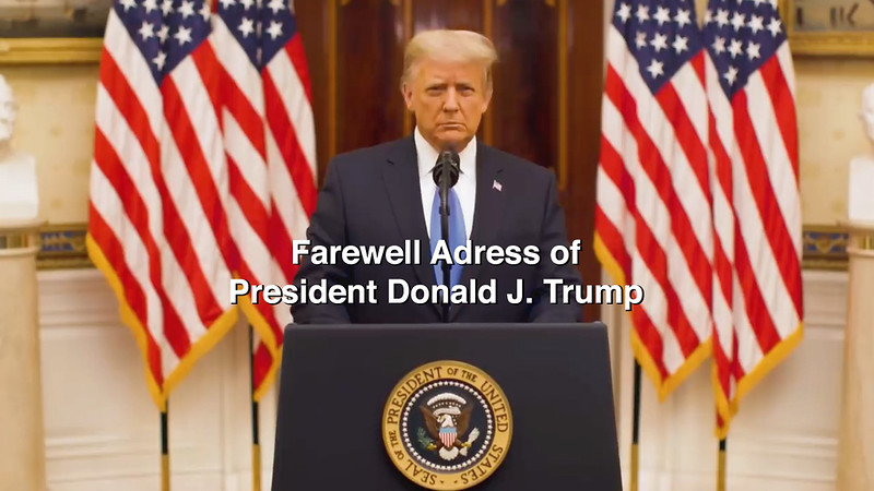 Farewell Address of President Donald J. Trump, 45th President of the United States