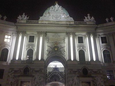 Another building at night