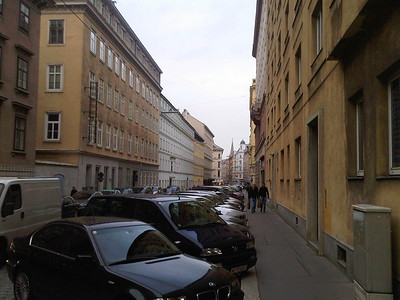 My first look of Vienna as I got off the train
