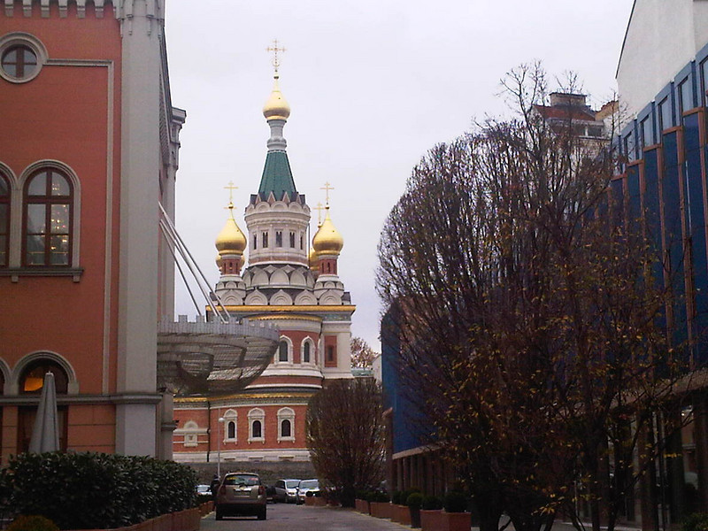 Russian Orthodox church next to hotel