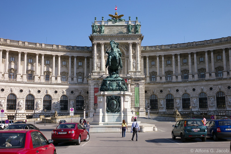 National Library at Imperial Palace, Vienna, Austria