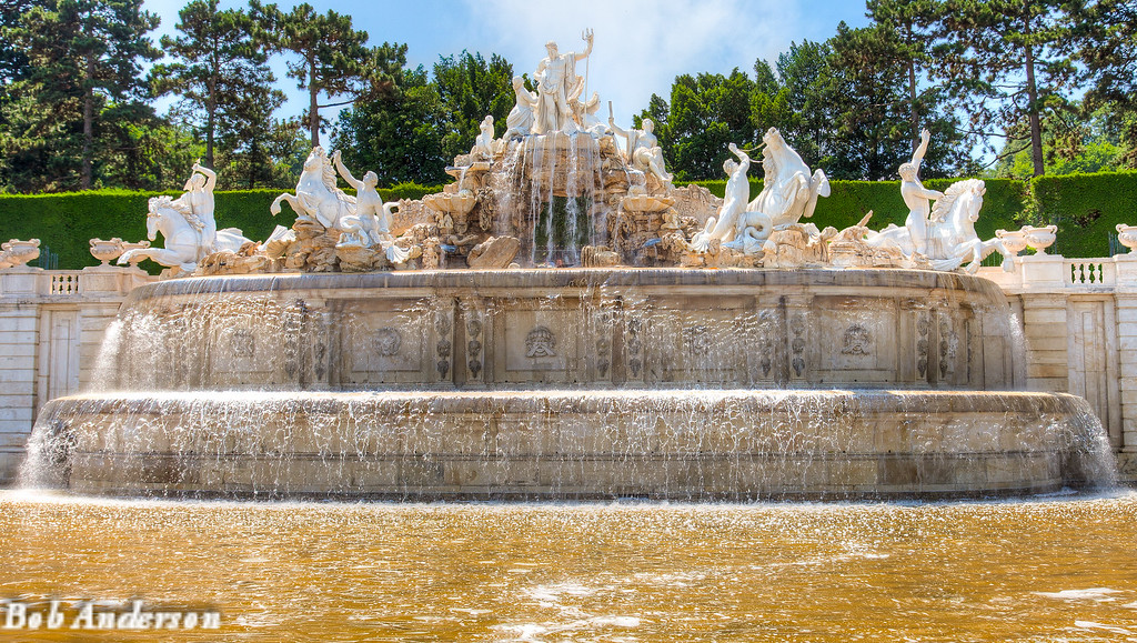 Neptunes Fountain at the Schonbrunn Palace