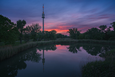 Donauturm sunset