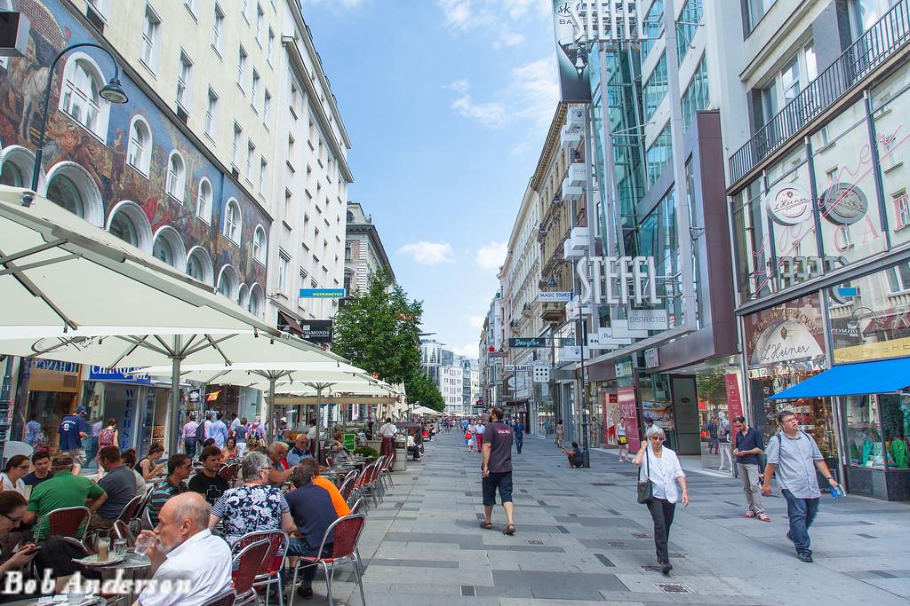 Sunday morning coffee, downtown Vienna