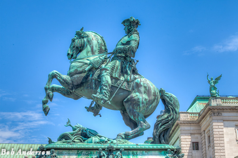Statue of the French Archduke Karl, (1771 - 1847), was the first general to defeat Napoleon in open battle