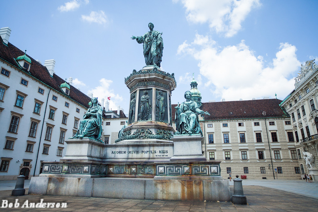 "Statue of Emeror Franz II/I in the ""In de Burg"" square"
