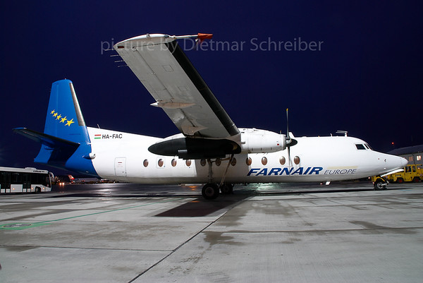 2007-12-14 HA-FAC Fokker 27 Farnair Europe