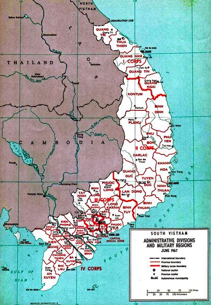 Military Regions map, June 1967.