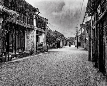 Streets of Hoi An Viet Nam in the Monsoon