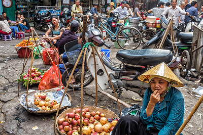 Street Vendors at the Day Markets in Hanoi, Viet Nam