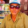 An old man we met at a tea stop. He loved Elise's sunglasses!