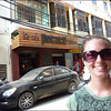 Elise on the street of Hanoi