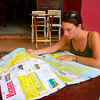 Elise planning our route