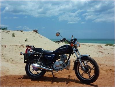 Our bike 'Bullet'. Suzuki 125cc.