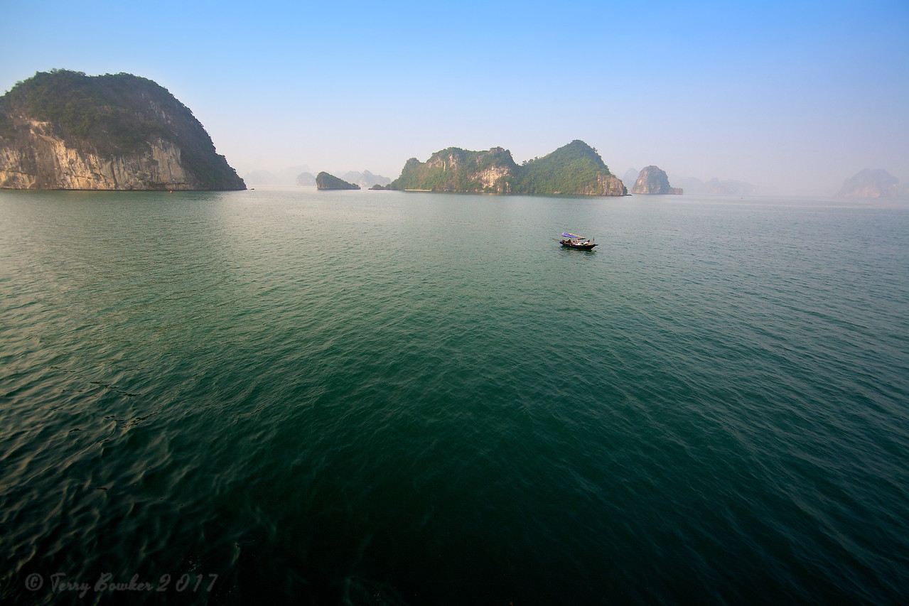 Traditional Fishing, Halong Bay, Vietnam