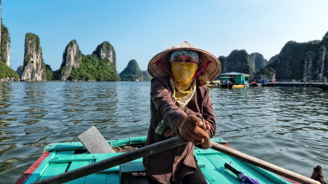 Bamboo Boat Lady, Ha Long Bay.
