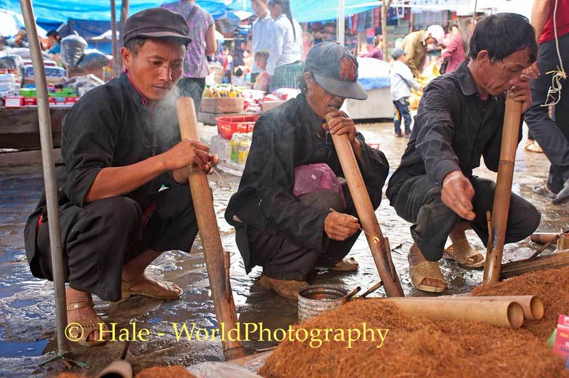 Sampling Tobacco At the Bac Ha Sunday Market