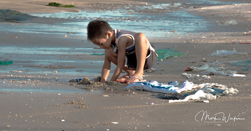 Boy Digging for Clams, Phan Thiet