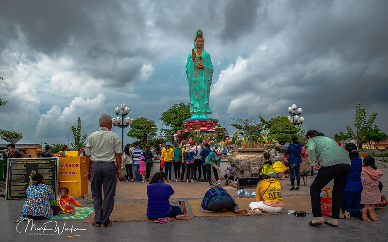 Buddhist shrine popular with visitors outside of Ca Mau