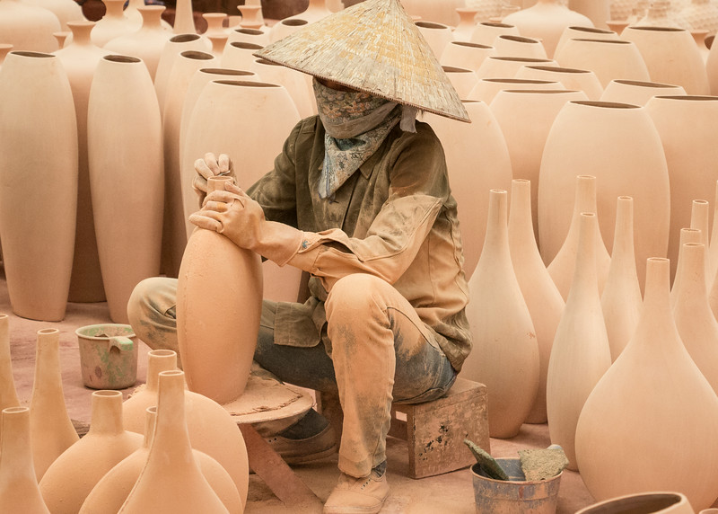 Ha Long, Vietnam: this is a factory for high volume, tourist-destined pottery.