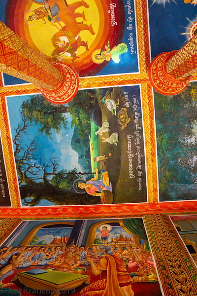 The Ceiling in Lolei Temple
